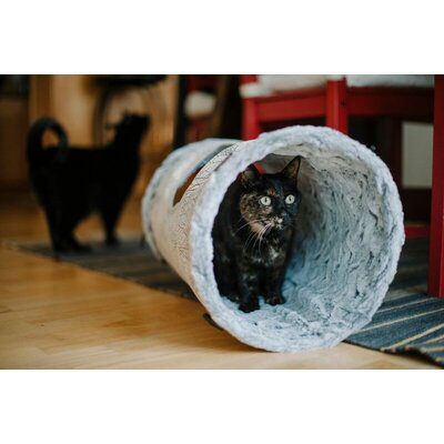 12 Purr and Pounce Cat Tunnel Color: Gray