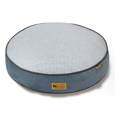 Houndstooth Dog Bed Size: Large (42 L x 42 W), Color: Blue/White