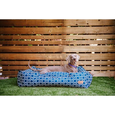 Moroccan Lounge Dog Bed Size: Small (24 L x 19 W), Color: Navy