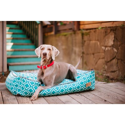 Moroccan Lounge Dog Bed Size: Medium (31 L x 25 W), Color: Teal