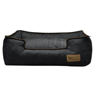 Original Denim Lounge Pet Sofa Size: Medium (31 H x 25 W), Color: Medieval Blue / Dark Chocolate