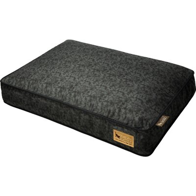 Backyard Frolic Rectangular Dog Pillow Size: Large (42 H x 31 W), Color: Mystic Black