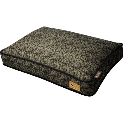 Backyard Frolic Rectangular Dog Pillow Size: Medium (36 H x 27 W), Color: Olive