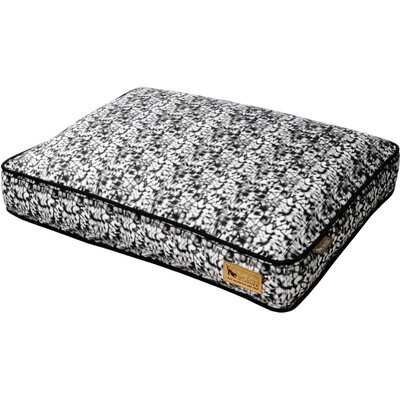Backyard Frolic Rectangular Dog Pillow Size: Large (42 H x 31 W), Color: Splashed White