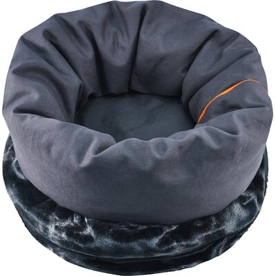 Snuggle Dog Bed Size: 36 L x 25 W, Color: Charcoal Gray