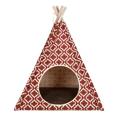 Clayton Moroccan Teepee Tent Dome Color: Marsala