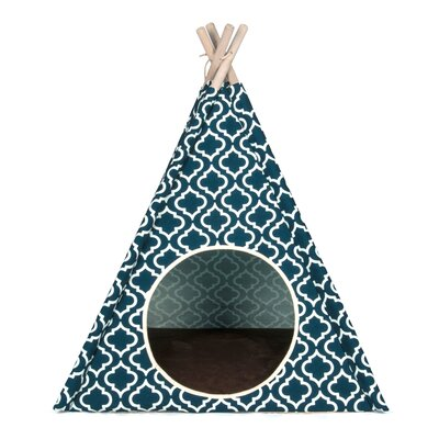 Moroccan Teepee Tent Dome Color: Navy