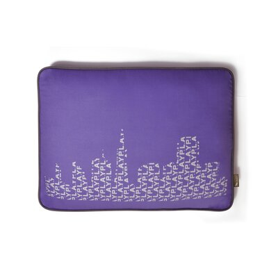 Cosmopolitan SFyline Rectangular Dog Pillow Size: Medium (36 L x 27 W), Color: Lilac/Silver