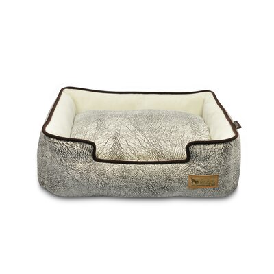 Original Savannah Lounge Dog Sofa Color: Ash Gray / Chocolate, Size: Large (38 L x 30 W)