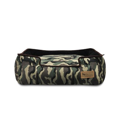 Original Camouflage Lounge Dog Sofa Size: Small (24 L x 19 W ), Color: Army Green / Chocolate
