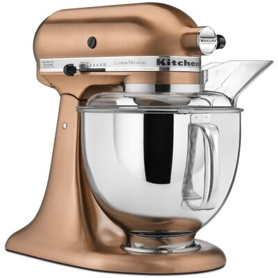 Custom Metallic 5 Qt. 325 Watt Tilt Back Head Stand Mixer by KitchenAid