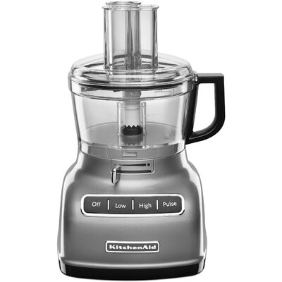 KitchenAid - KFP0722CU 7-Cup Food Processor - Contour Silver KFP0722CU