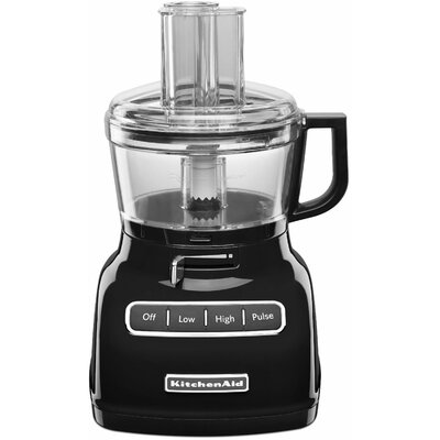 KitchenAid 7 Cup Food Processor with ExactSlice System and External Adjustable Lever - Color: Onyx Black