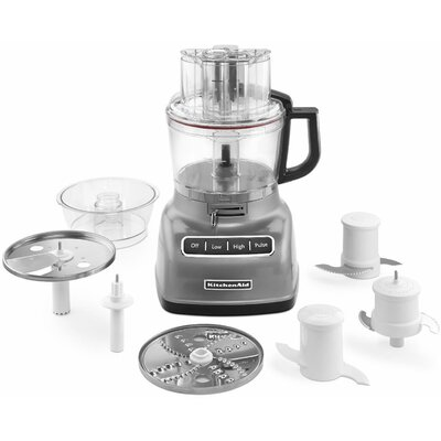 KitchenAid - 9-Cup Food Processor - Contour Silver KFP0933CU