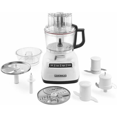9-Cup Food Processor with ExactSlice System and External Adjustable Lever Color: White KFP0933WH