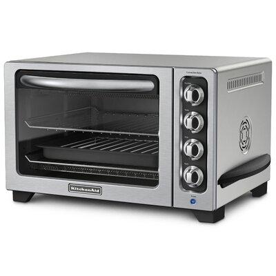 Kitchen Aid KCO223CU Countertop Convection Oven w/ Timer & Non-Stick Interior, Silver KCO223CU