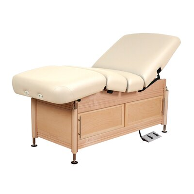 Clinician Electric Hydraulic Lift Assist Salon with Cabinet Color: Opal
