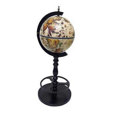 Sicilia Italian Style Single Leg Floor Globe Bar