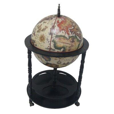 Firenze Italian Style 3 Leg Floor Globe Bar