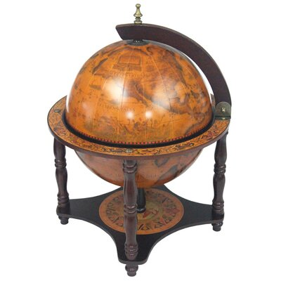 Italian Style 13 Tabletop Globe Bar in Old World