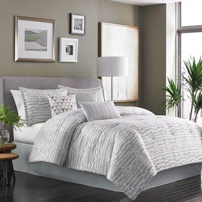 Kallan 7 Piece Reversible Comforter Set Size: King