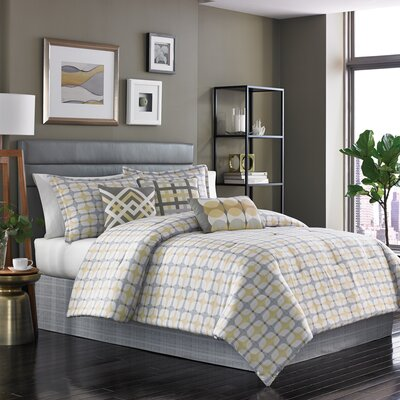 Bjorn 7 Piece Reversible Comforter Set Size: King