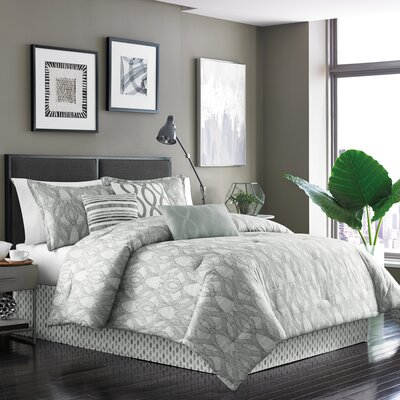 Henrik 7 Piece Reversible Comforter Set Size: King