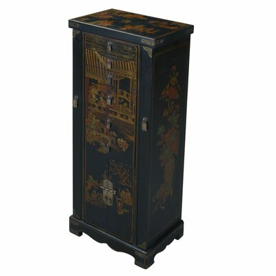 Handmade Oriental Antique Style Jewelry Armoire