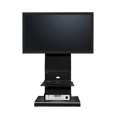 EXP Entertainment 50″ Flat Panel Plasma LCD Bracket Mount TV Stand with Center Media Console in Glossy Black (EXQ1009)