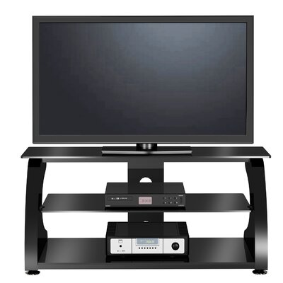 Cheap EXP Entertainment 50″ Flat Panel Plasma LCD TV Stand with Center Media Console in Glossy Black (EXQ1008)