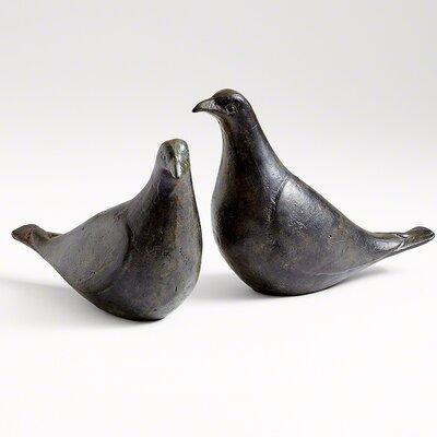 2 Piece Dove Figurine Set 7.80435