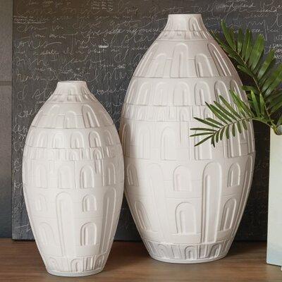"""Coliseum Floor Vase Size: 18"""" H x 9"""" W x 9"""" D"""