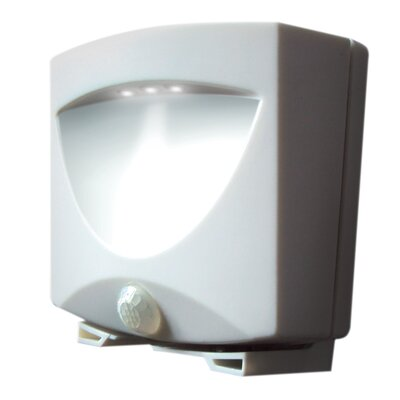 Battery-Powered Motion-Activated Indoor/Outdoor Night Light Finish: White