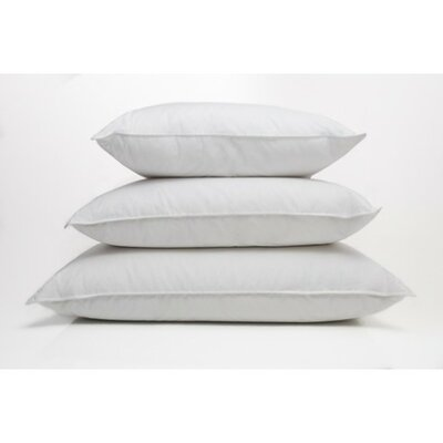 Single Shell Extra Firm Down Pillow Size: King