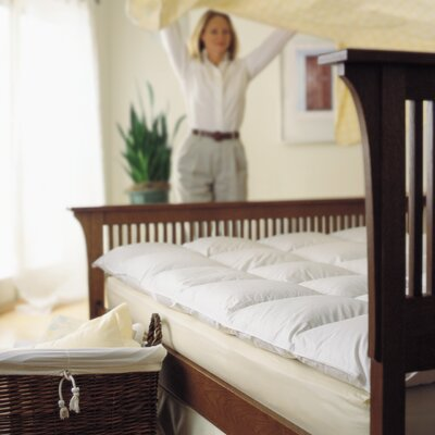 Goose Feather Bed Mattress Enhancer Size: King