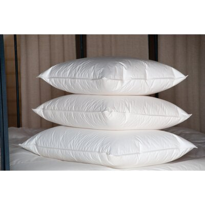 Single Shell 75 / 25 Firm Down Pillow Size: King