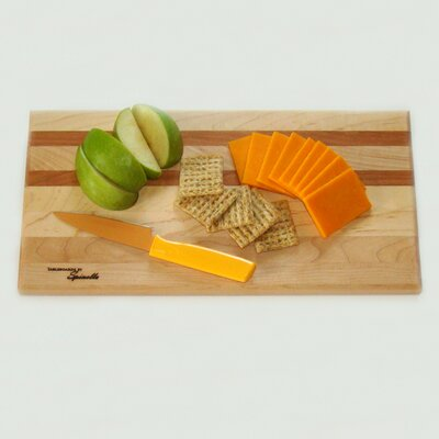 Medium Maple Utility Cutting Board With Cherry Accent