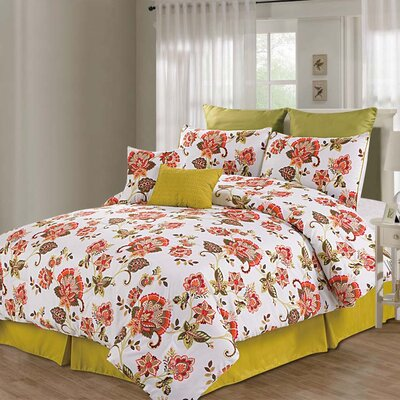 Berkeley 8 Piece Comforter Set Size: Queen