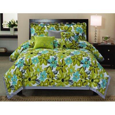 Luxury Home Somerset 6 Piece Comforter Set - Size: King
