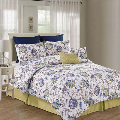Printed Kensington 8 Piece Comforter Set Size: King