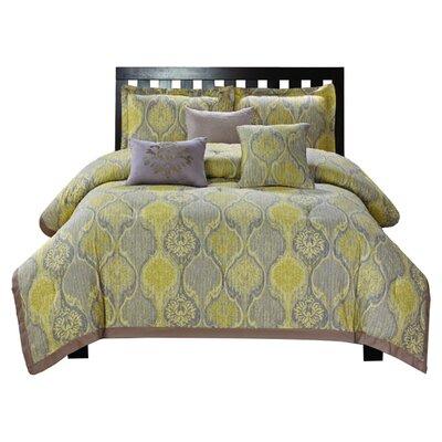 Luxury Home Venetian 6 Piece Comforter Set - Size: Queen