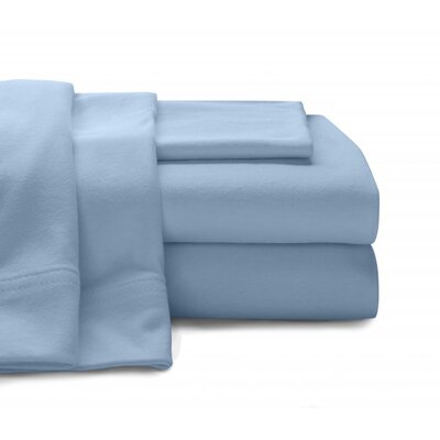 Jersey Knit Sheet Set Size: Full, Color: Blue