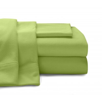 Jersey Knit Sheet Set Size: Full, Color: Lime