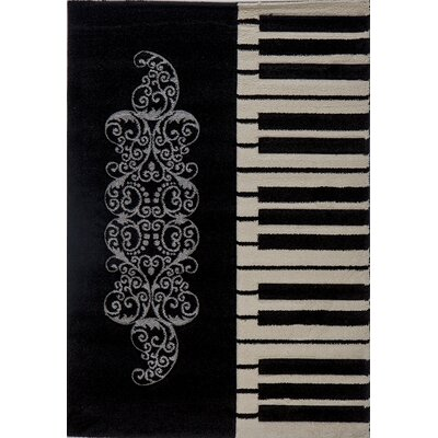 Milano Flowery Piano Area Rug Rug Size: 6 x 8