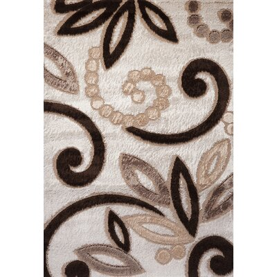 Contempo Spiral Brown/Tan Area Rug Rug Size: Runner 3' x 8'