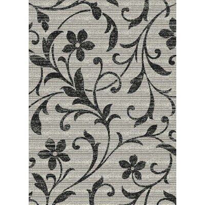 Starlite Distressed Floral Gray Area Rug