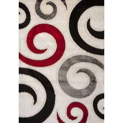 Contempo Spiral Multi Area Rug Rug Size: Runner 3 x 8