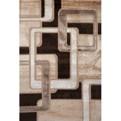 Contempo Geometric Brown/Tan Area Rug Rug Size: 8 x 11