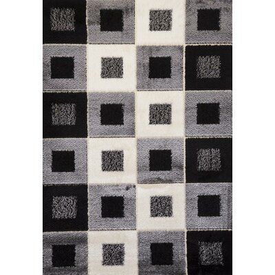 Signature Checkered Stone Area Rug Rug Size: Runner 3 x 8