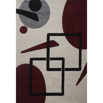 Milano Orbs and Squares Multi Area Rug Rug Size: 6 x 8